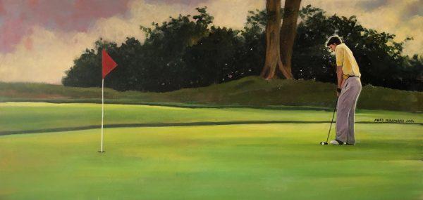 The last hole, 2015 akryl, płótno 40 x 100 cm sygnowany