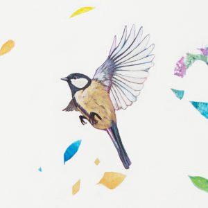 ptak lecący w lewą stronę